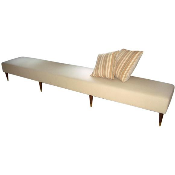 Very long upholstered bench at 1stdibs Long upholstered bench