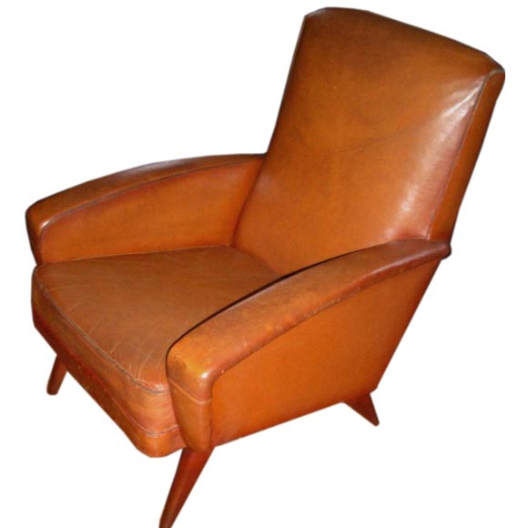 this mid century leather club chair is no longer available