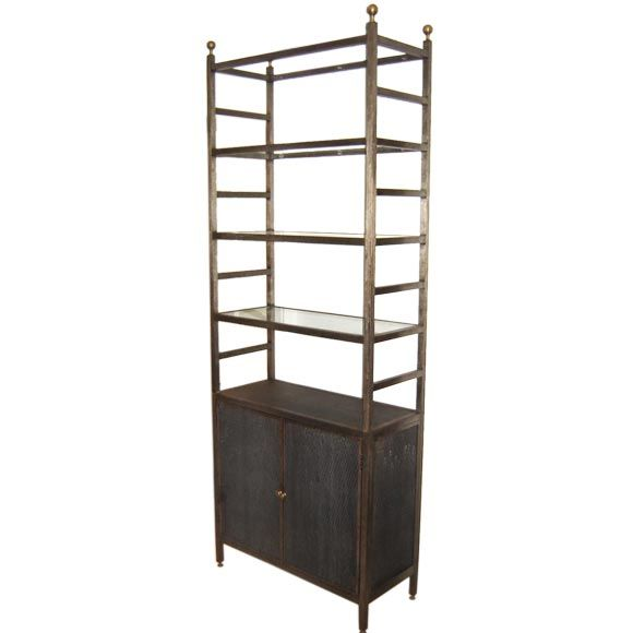 Burnished metal etagere at 1stdibs - Etagere cases carrees ...