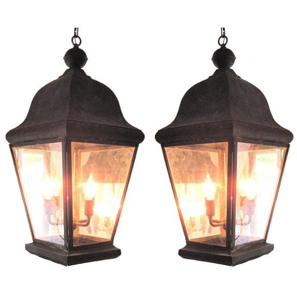 Pair Of Zinc Lanterns At 1stdibs