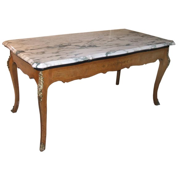 Marble top french antique table for sale at 1stdibs for Marble table tops for sale
