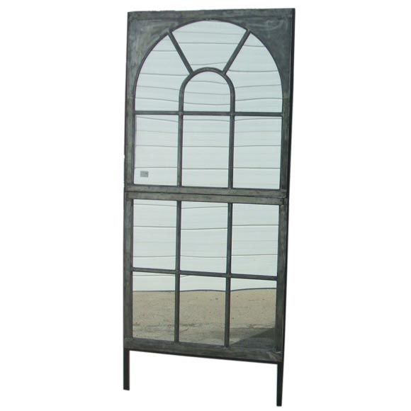 Metal Window Frame Mirror