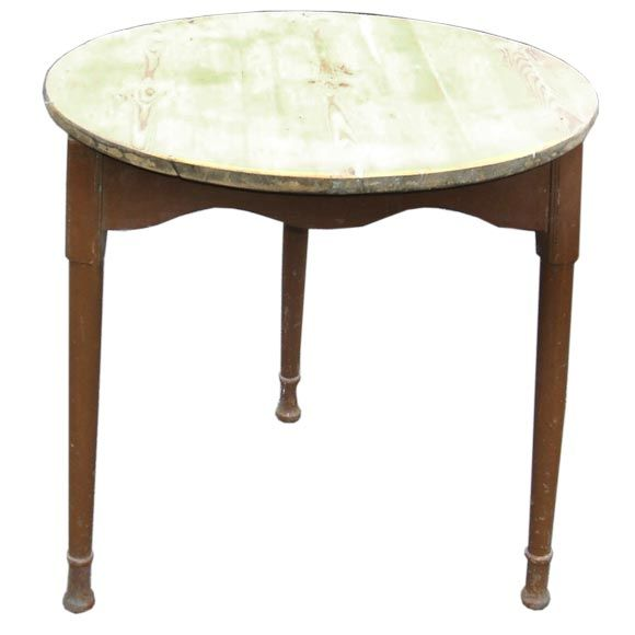 Round Pine Antique Occasional Table At 1stdibs