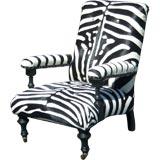 Faux Zebra Armchair