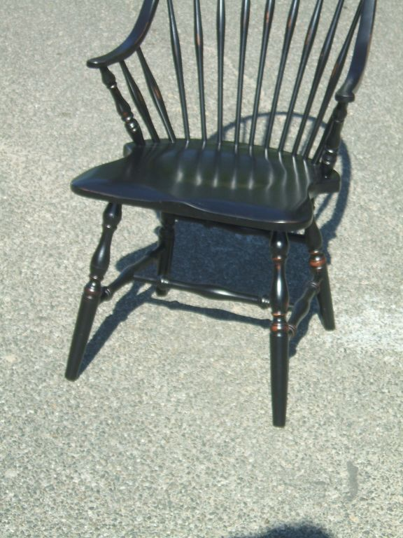 black windsor chair for sale at 1stdibs. Black Bedroom Furniture Sets. Home Design Ideas