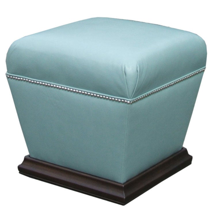 Sitting leather ottoman at 1stdibs for Ottoman to sit on