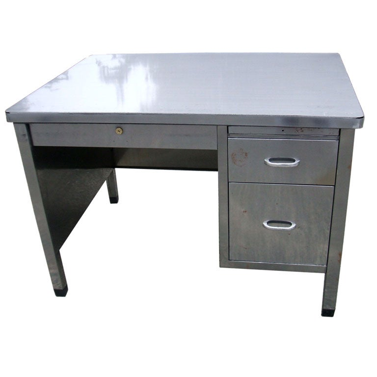 French Metal Desk At 1stdibs