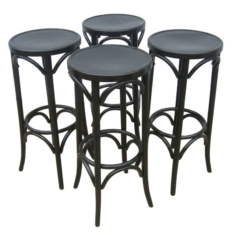 Black Leather Seat Stool For Sale At 1stdibs
