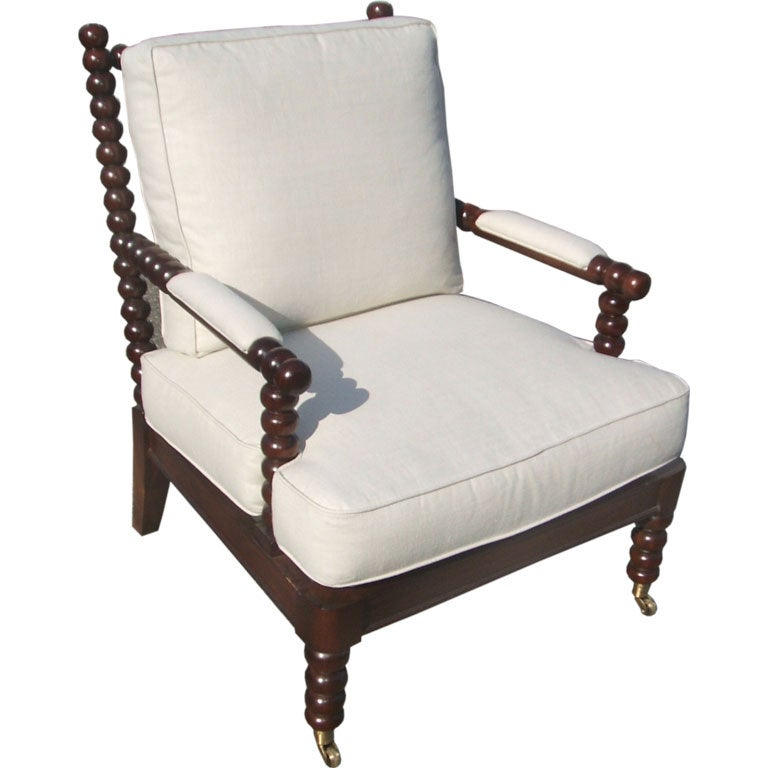 Upholstered Bobbin Chair For Sale at 1stdibs