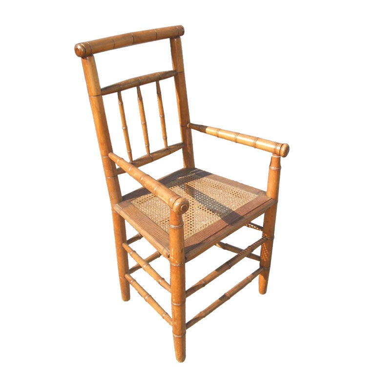Antique Faux Bamboo Chair At 1stdibs