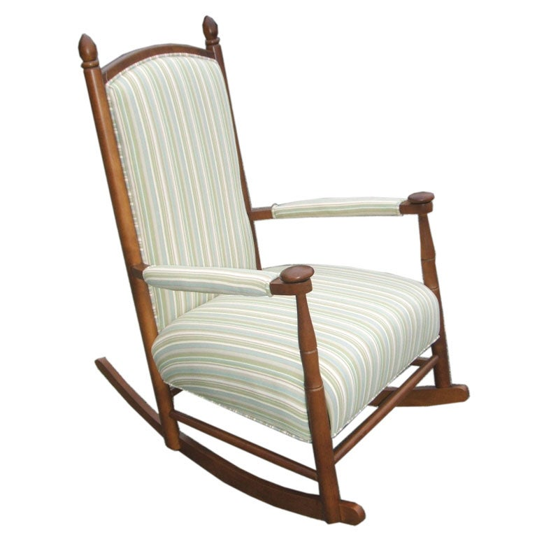 Upholstered rocking chair at stdibs