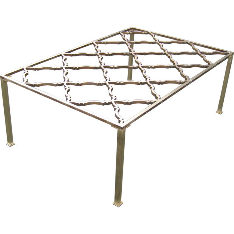 Antique french brass coffee table at 1stdibs Antique brass coffee table