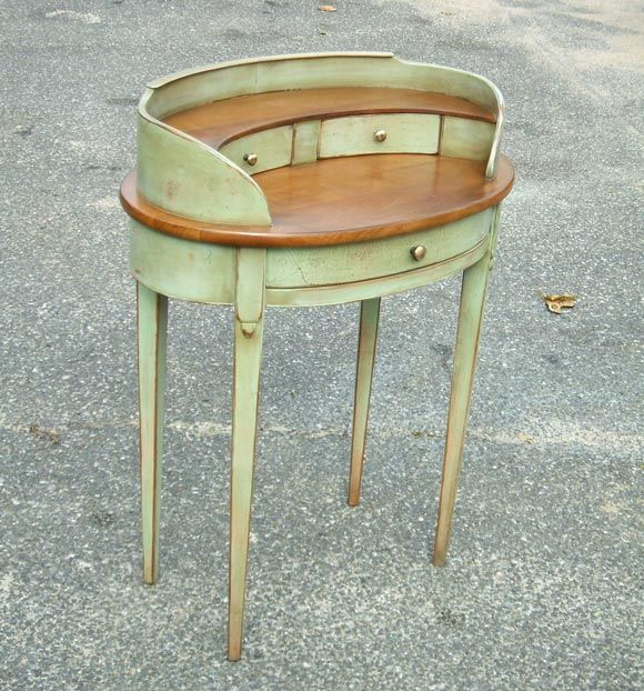 Painted small kidney desk at 1stdibs for Kidney desk for sale