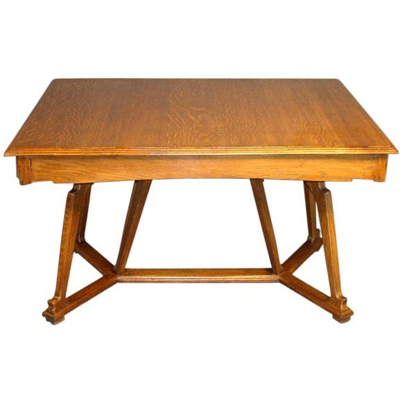 Unusual art nouveau period dining table at 1stdibs for Unusual dining tables for sale