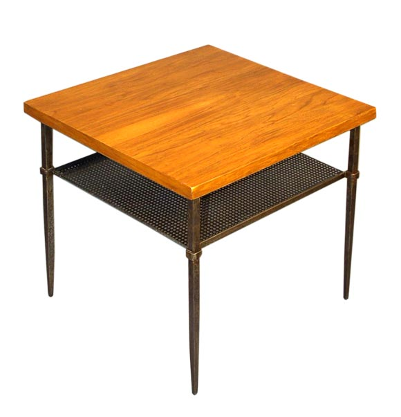 Artimeta Attributed Square Metal And Glass Coffee Table At: Table Attributed To Mathieu Mategot At 1stdibs