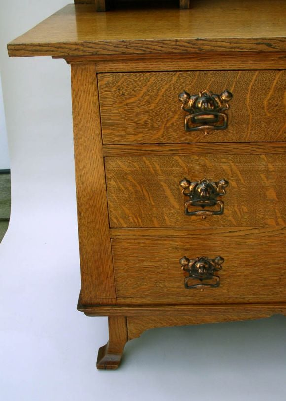 art nouveau dressing table commode at 1stdibs. Black Bedroom Furniture Sets. Home Design Ideas