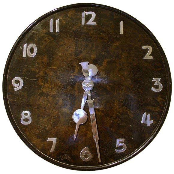 Superieur Art Deco Wall Clock For Sale