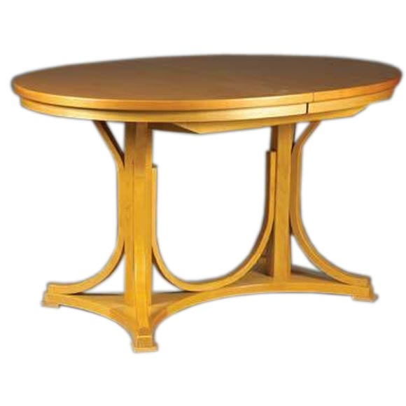 An Oval Bent Wood Double Pedestal Dining Table At 1stdibs