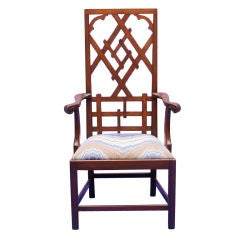 Chippendale Style Fretwork High Back Chair