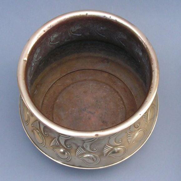a large art deco period brass cache pot at 1stdibs. Black Bedroom Furniture Sets. Home Design Ideas