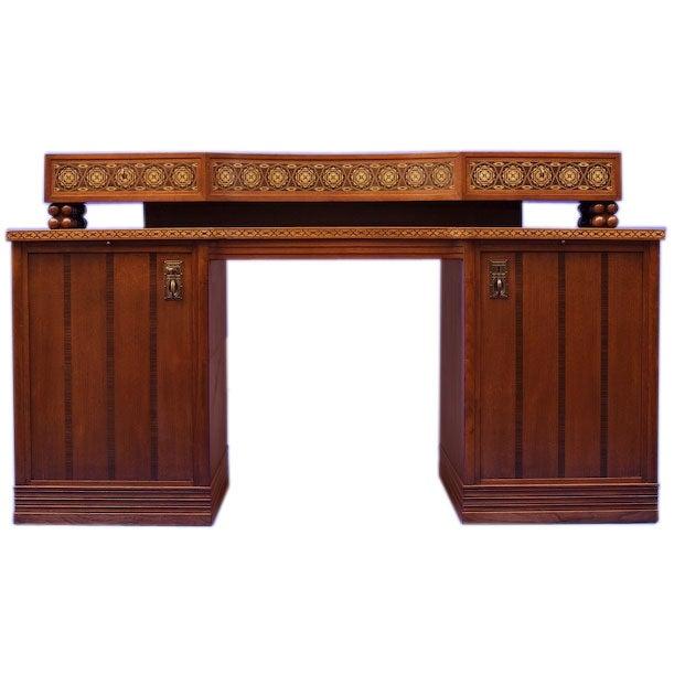 German Jugendstil Desk after Olbrich