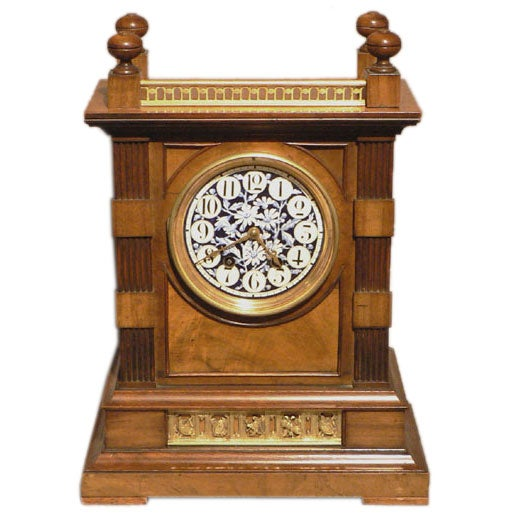 English arts and crafts period mantle clock at 1stdibs for Arts and crafts mantle clock