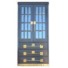 German Jugendstil Glass Door Cabinet