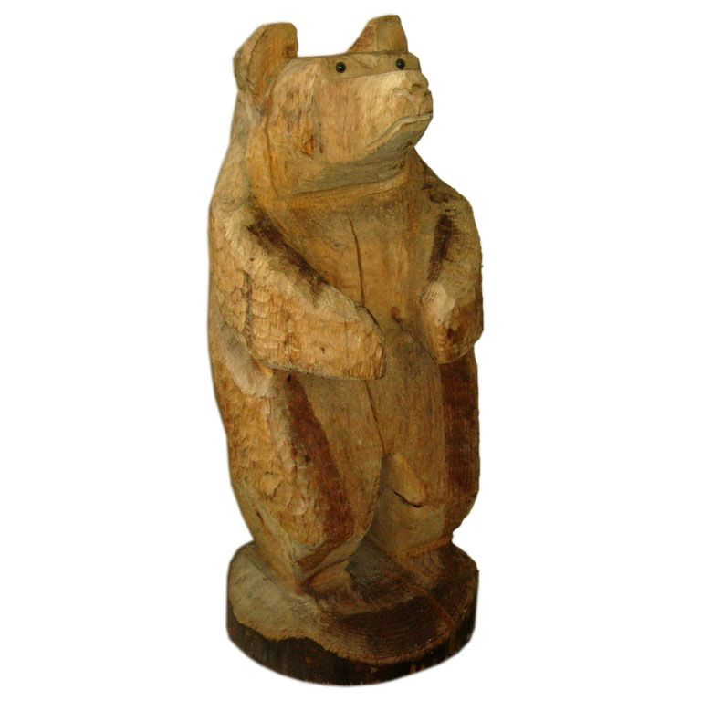 Carved Wood Bear Cub At 1stdibs