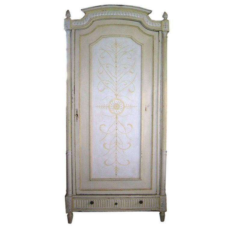 Custom Painted Armoire At 1stdibs