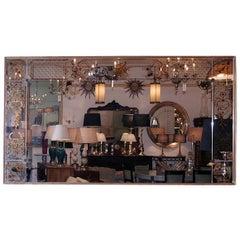 Large Horizontal Reverse Painted Mirror