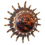 Gilt Iron Sunburst Mirror