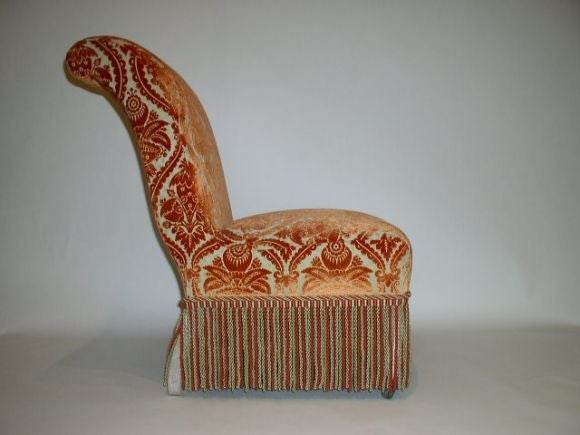 French 19th Century Slipper Chair In Good Condition For Sale In Long Island City, NY