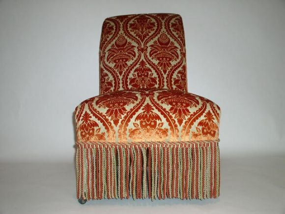 Wood French 19th Century Slipper Chair For Sale