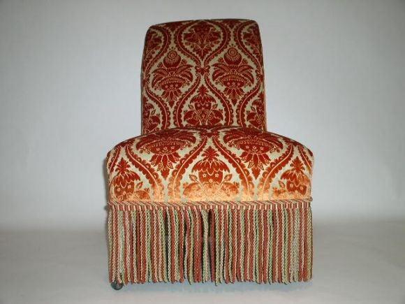 French 19th Century Slipper Chair 4