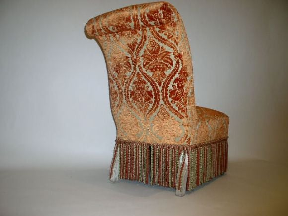 French 19th Century Slipper Chair For Sale 2