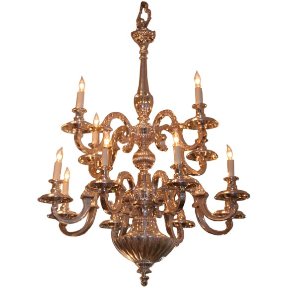 Double tiered chandelier at 1stdibs