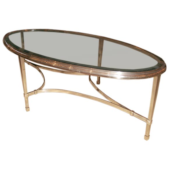 Large Glass Coffee Table At 1stdibs