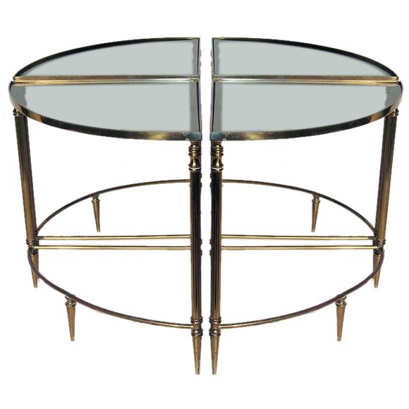 Coffee tables in 4 parts at 1stdibs for Cocktail tables parts