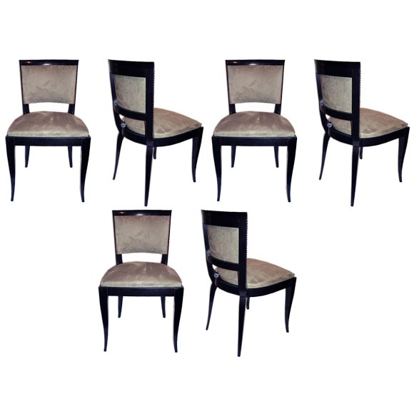 Set of 6 French 1940s Dining Chairs at 1stdibs : 1 from www.1stdibs.com size 580 x 580 jpeg 26kB