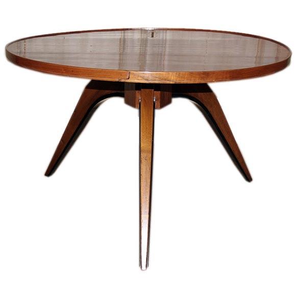 Round Mahogany End Table At 1stdibs