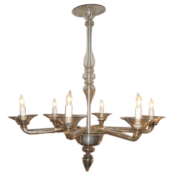 Murano Chandelier Color: Champagne Colored Murano Chandelier At 1stdibs