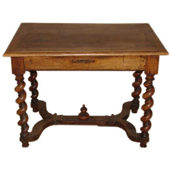 Spindle leg wood side table at stdibs