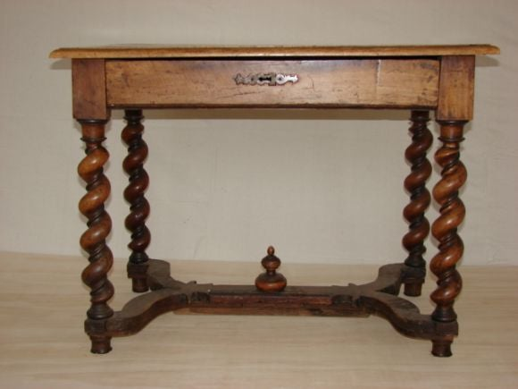 Wooden Spindle Table ~ Spindle leg wood side table at stdibs