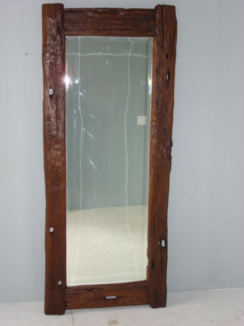Rustic floor length mirror