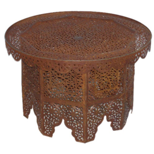 Round iron moroccan coffee table at 1stdibs Moroccan coffee tables