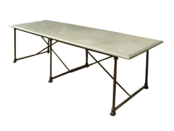 Grey marble top dining table at 1stdibs - Marble dining table prices ...