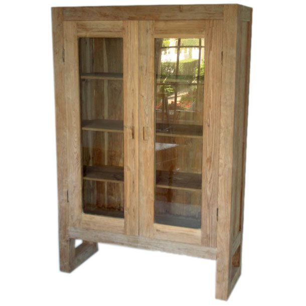 large block teak bookcase with glass doors at 1stdibs