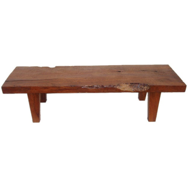 Rustic Indonesian Bench Coffee Table At 1stdibs