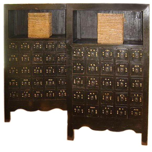 - Lacquered Chinese Medicine Cabinets At 1stdibs