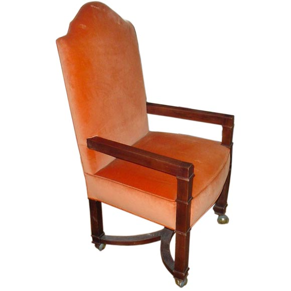 High back upholstered chairs at 1stdibs for Armchair with high back